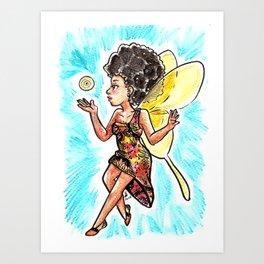 Natural Hair Fairy Art Print