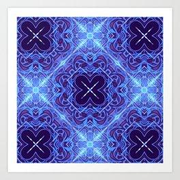 Quiet Azure Illumination Art Print
