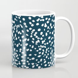 Navy Dots abstract minimal print design pattern brushstrokes painterly painting love boho urban chic Coffee Mug