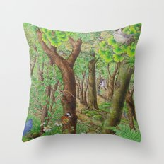 A Day of Forest (2). (sunshine forest) Throw Pillow