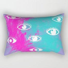 Eyes, the look Rectangular Pillow