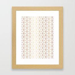 Hive Mind - Rose Gold #113 Framed Art Print