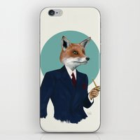 mr fox iPhone & iPod Skins featuring Mr. Fox by FAMOUS WHEN DEAD