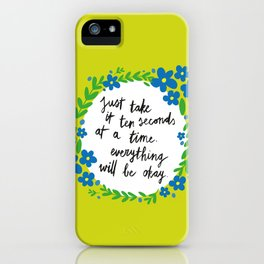 Ten Seconds - Lime iPhone Case