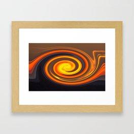 Sunset CIRCLE Framed Art Print