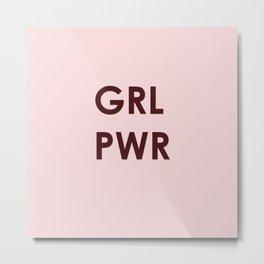 GRL PWR (version 2) Metal Print