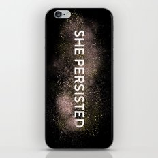 She Persisted - Gold Dust iPhone & iPod Skin