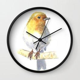 Robin bird Wall Clock