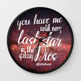 Illuminae Quote Wall Clock
