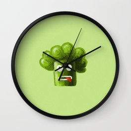 Stressed Out Broccoli Wall Clock