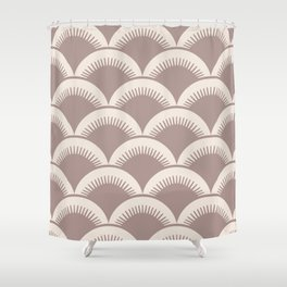 Japanese Fan Pattern Beige 2 Shower Curtain