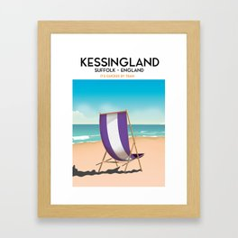 Kessingland, suffolk seaside poster. Framed Art Print