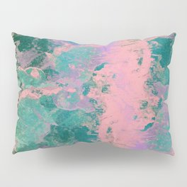 Pink and Green Paint Pillow Sham