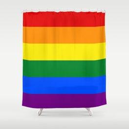 Love is Love 626 - LGBT Gay Flag Shower Curtain