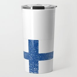 Finland National flag Distressed Finnish Country Gift Travel Mug