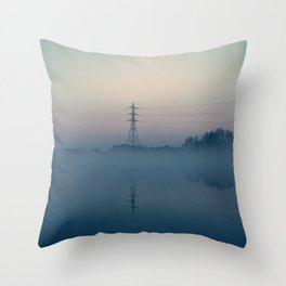 Foggy Morning At Chasewater Throw Pillow