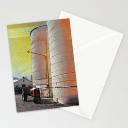 Modern photography - digital art - 'Modern Silo' - farm art, pop art, mod rural Stationery Cards