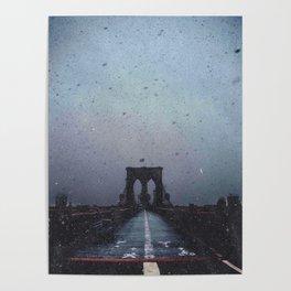 Brooklyn Bridge in the Dark Poster