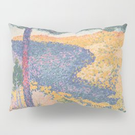 Valley with Fir (Shade on the Mountain) by Henri-Edmond Cross1909, French Pillow Sham