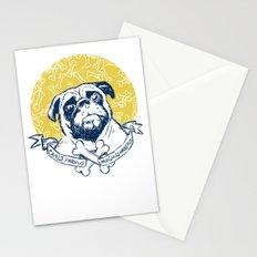Pug : Small dog, big attitude. Stationery Cards