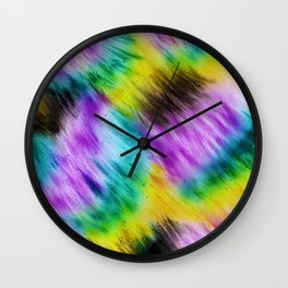 Rainbow furs Wall Clock