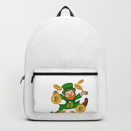 Bitcoin Gold Leprechaun St Patricks Day HODL Backpack