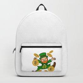 Bitcoin Gold Leprechaun St Patricks Day HODL Backpack