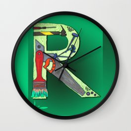R Handyman Wall Clock