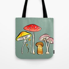 Woodland Mushrooms Tote Bag