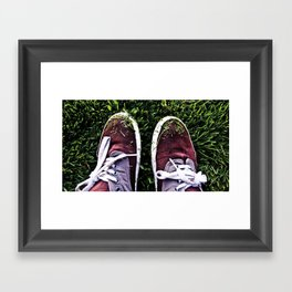In My Shoes Framed Art Print