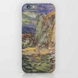 Kida Kinjiro - Bluff in Chazu (1957) iPhone Case