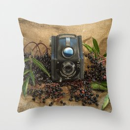 Ensign and the Elderberries Throw Pillow