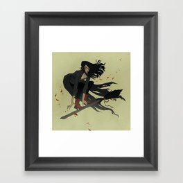 Broom Ride Framed Art Print
