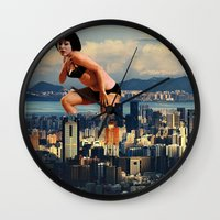 thrones Wall Clocks featuring I lost my light by Laura Nadeszhda