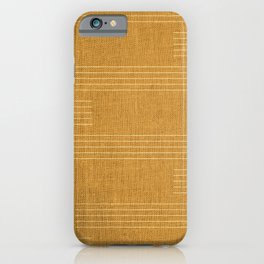 Mudcloth, Minimal, Pattern, Boho Prints, Yellow iPhone Case
