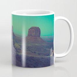 The Arizona Desert Grand Canyon Landscape With Turquoise Sky Sunset Coffee Mug