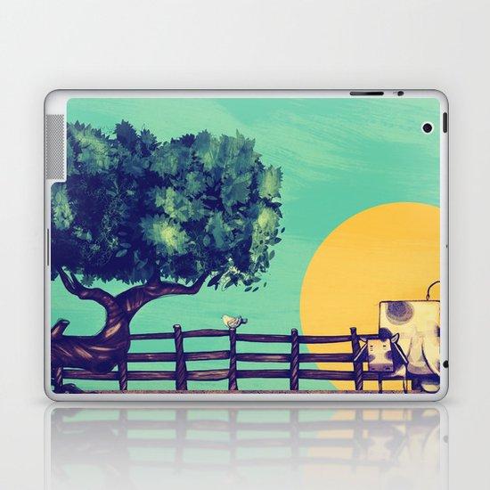 Cow Sunset Laptop & iPad Skin