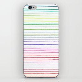 RAINBOW WATERCOLOR LINES iPhone Skin