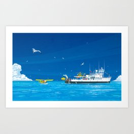 RV Calypso Art Print