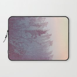Forest Fog - Snowy Mountain Trees at Sunset Laptop Sleeve