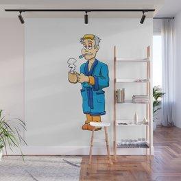 Man sick with flu Wall Mural
