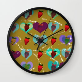 FUNNY STRAWBERRY PATTERN 01 Wall Clock