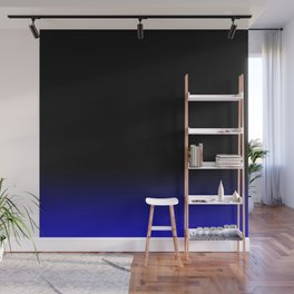 Blue Black Ombre Wall Mural