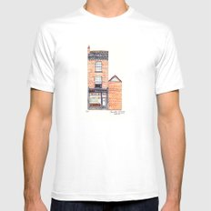 The Cats of York by Charlotte Vallance Mens Fitted Tee White MEDIUM