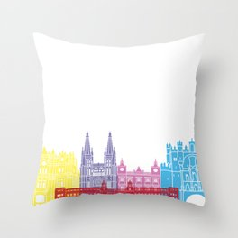 Burgos skyline pop Throw Pillow