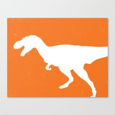 T-rex Orange Dinosaur Canvas Print