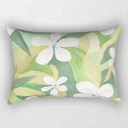 Granny's white flowers Rectangular Pillow