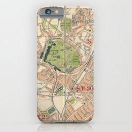 Bacon's Pocket Atlas of London (1921) - 40 Crystal Palace, Upper Sydenham, Upper Norwood, Penge iPhone Case