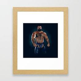 Muscle bear Framed Art Print