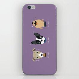Three wise dogs iPhone Skin